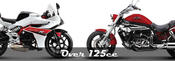 Large CC Motorcycles & Scooters