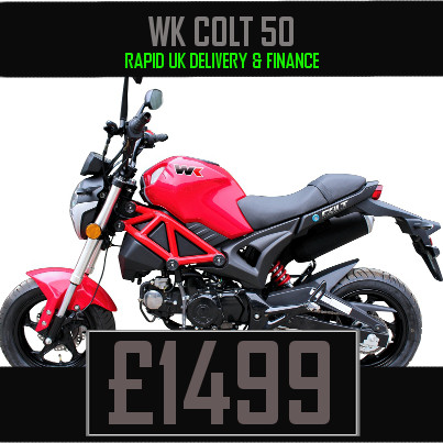 WK Colt 50 50cc Motorcycle available on Finance & UK Delivery