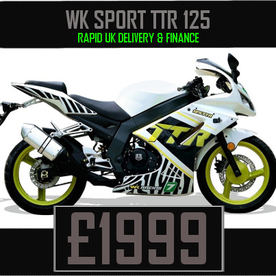 WK Sport TTR 125 125cc Motorcycle available on Finance & UK Delivery