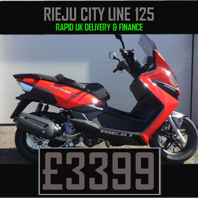 Rieju City Line 125 large 2 seater 125cc Scooter on finance