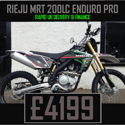 Rieju MRT 200 LC Enduro Pro 200cc Motorcycle on finance