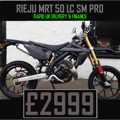 Rieju MRT 50 Pro Liquid Cooled 2 Stroke 50cc Supermoto Motorcycle