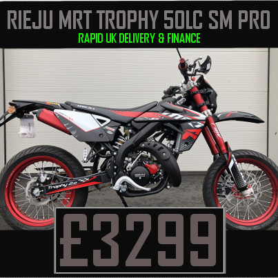 Rieju MRT Trophy 50 Liquid Cooled 2 Stroke 50cc Supermoto Motorcycle