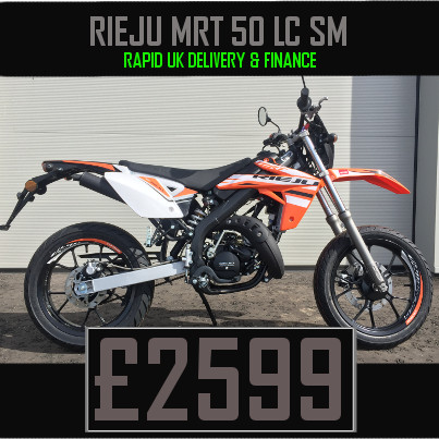 Rieju MRT 50 Liquid Cooled 2 Stroke 50cc Supermoto Motorcycle