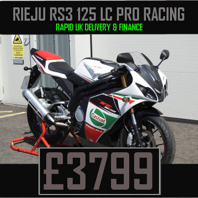 Rieju RS3 125 LC Pro Racing 125cc Motorcycle on finance