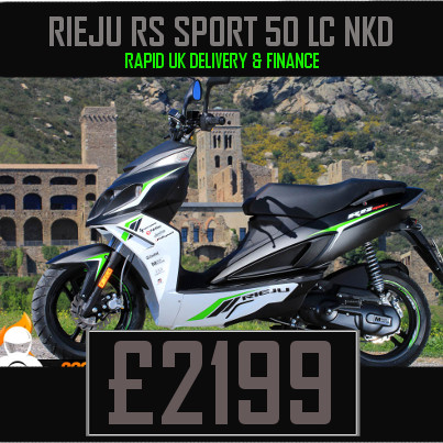 Rieju RS Sport 50 LC NKD 50cc Scooter on finance