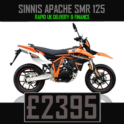 Sinnis Apache SMR 125 125cc Supermoto Finance Nationwide Delivery