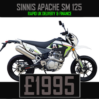 Sinnis Apache SM 125 125cc Supermoto Finance Nationwide Delivery