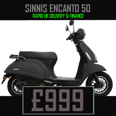 Sinnis Encanto 50 50cc Scooter on finance nationwide delivery