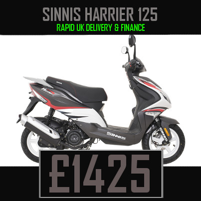 Sinnis Harrier 125 125cc Scooter on finance nationwide delivery