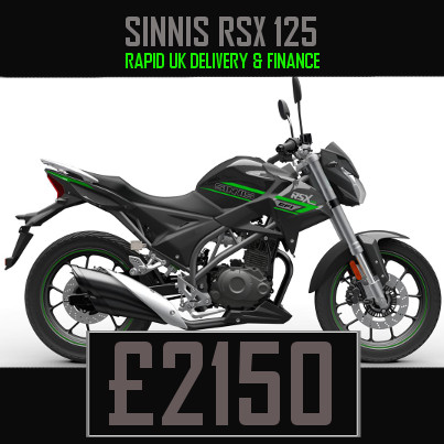 Sinnis RSX 125 125cc Street Motorcycle Finance Nationwide Delivery