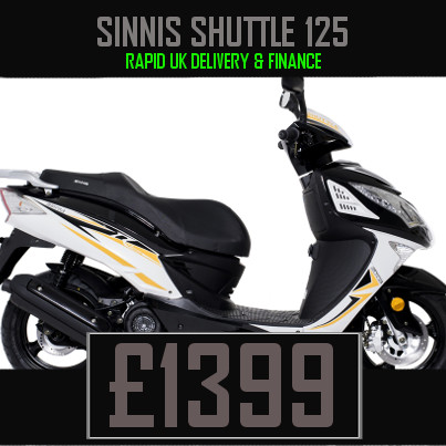 Sinnis Shuttle 125 125cc Scooter on finance nationwide delivery