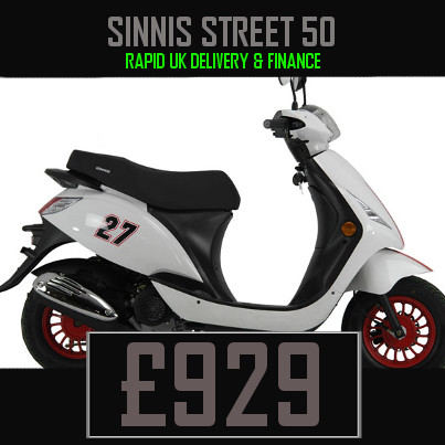 Sinnis Street 50 50cc Scooter on finance nationwide delivery