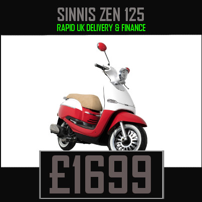Sinnis ZEN 125 125cc Scooter on finance nationwide delivery