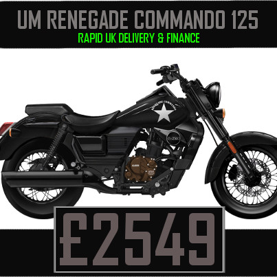 UM Renegade Commando Classic 125 125cc Cruiser on Finance & UK Delivery