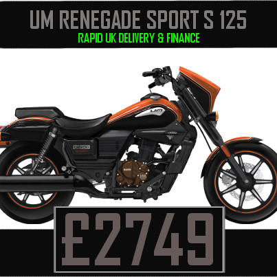 UM Renegade Sport S 125 125cc Cruiser on Finance & UK Delivery
