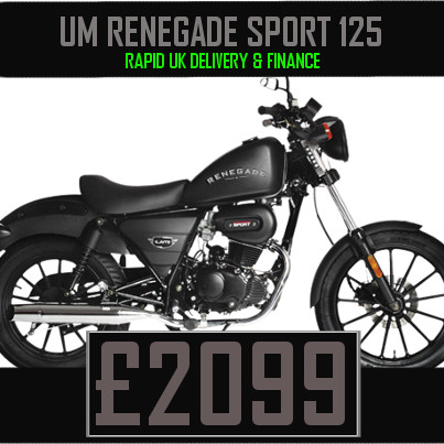 UM Renegade Sport 125 125cc Cruiser on Finance & UK Delivery