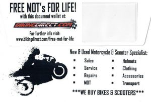 FREE MOT FOR LIFE - Motorcycle MOT's