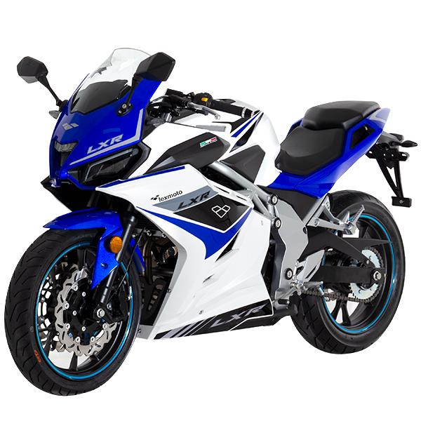 Lexmoto LXR125 White Blue - Front Left
