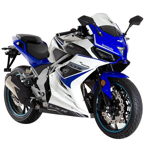 Lexmoto LXR125 White Blue -Front Right