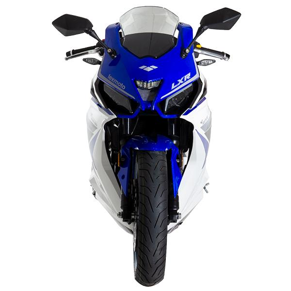 Lexmoto LXR125 White Blue - Front