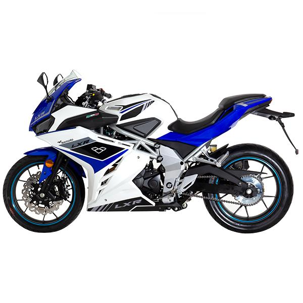 Lexmoto LXR125 White Blue - Left
