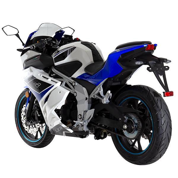 Lexmoto LXR125 White Blue - Rear Left