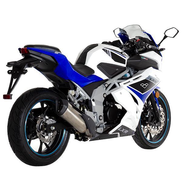 Lexmoto LXR125 White Blue - Rear Right