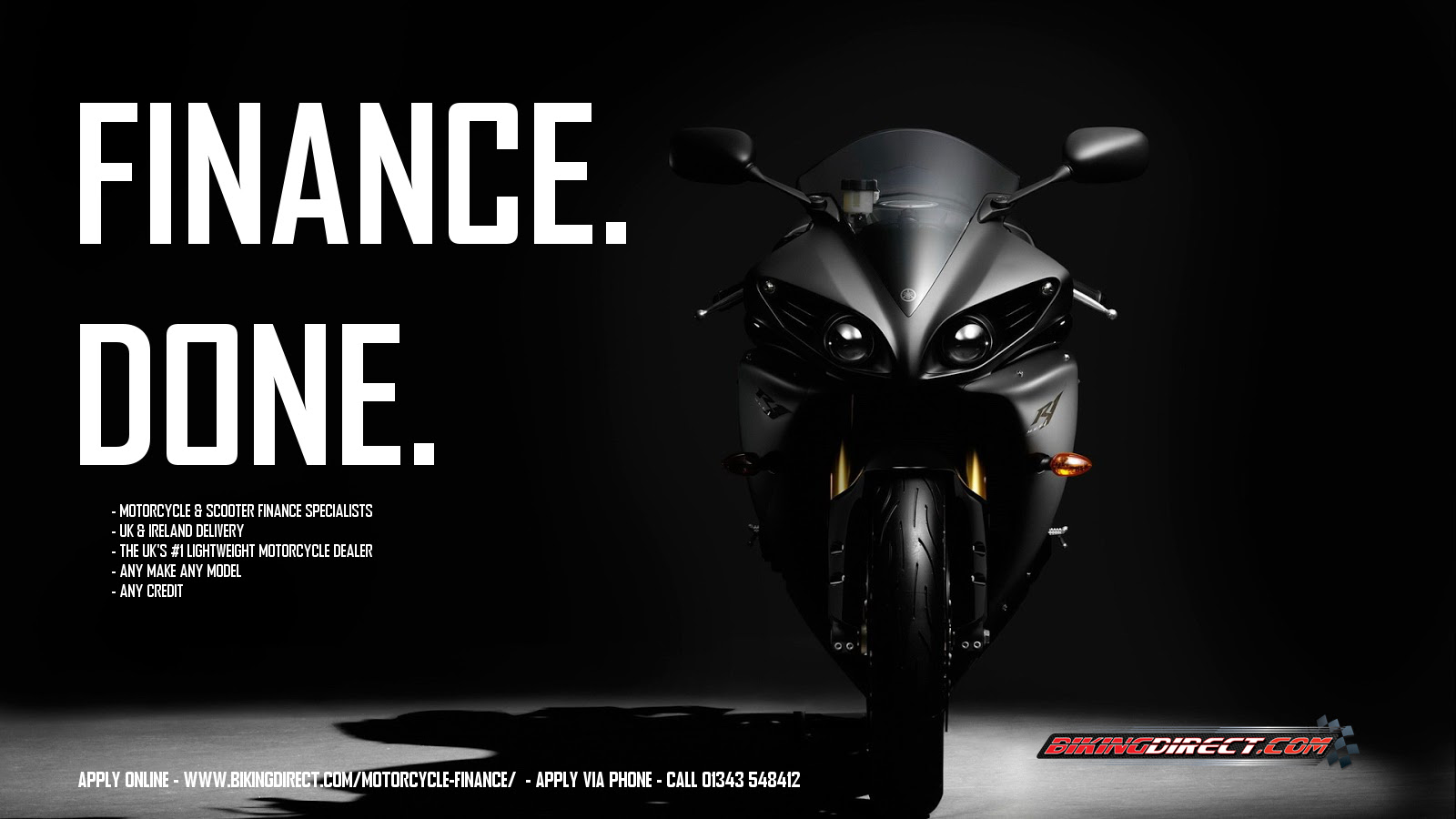 Motorcycle Finance from £5 /Week! Motorbike Finance UK Delivery