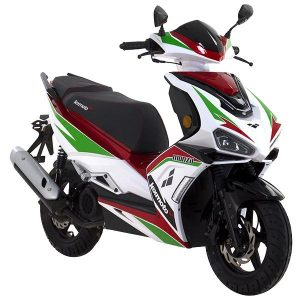 Lexmoto Monza White Green Red
