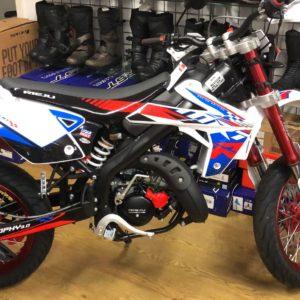 Rieju MRT Trophy 50LC Pro 50cc White / Blue / Red